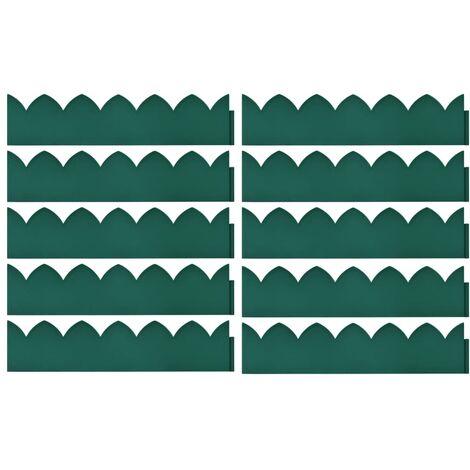 Hommoo Lawn Edgings 10 pcs Green 65x15 cm PP QAH46391
