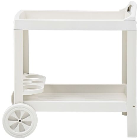 Hommoo Beverage Cart White 69x53x72 cm Plastic QAH46701