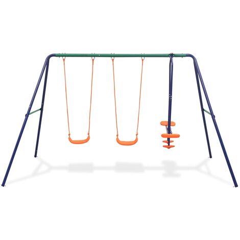 Hommoo Swing Set with 4 Seats Orange QAH32441