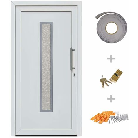 Hommoo Front Entrance Door White 98x200 cm