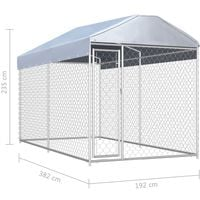 Hommoo Outdoor Dog Kennel with Canopy Top 382x192x235 cm VD06396