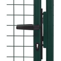 Hommoo Fence Gate Steel 100x125 cm Green VD06527