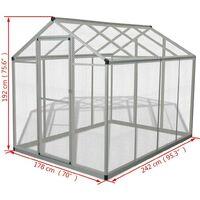 Hommoo Outdoor Aviary Aluminium 178x242x192 cm VD06963