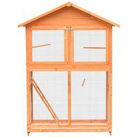 Hommoo Bird Cage Solid Pine & Fir Wood 120x60x168 cm VD07194