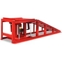 Hommoo Car Repair Ramps 2 pcs Red Steel VD07876