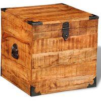 Hommoo Storage Chest Cubic Rough Mango Wood VD08874