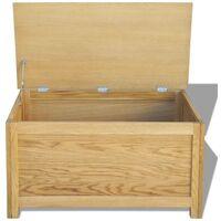 Hommoo Storage Box 90x45x45 cm Solid Oak Wood VD09676