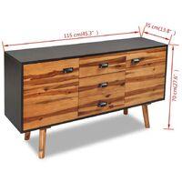 Hommoo Sideboard Solid Acacia Wood 115x35x70 cm VD10160
