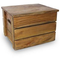 Hommoo Storage Crate Set 2 Pieces Solid Reclaimed Wood VD10601