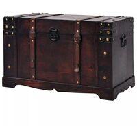Hommoo Vintage Treasure Chest Wood 66x38x40 cm VD11467