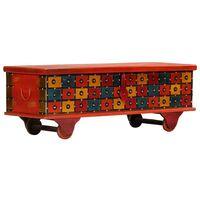 Hommoo Storage Box Red 110x40x40 cm Solid Acacia Wood