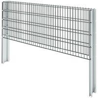 Hommoo 2D Gabion Fence Galvanised Steel 2008x830 mm 2 m Grey VD17431