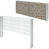 Hommoo 2D Gabion Fence Galvanised Steel 2008x830 mm 2 m Silver VD17441