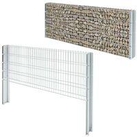 Hommoo 2D Gabion Fence Galvanised Steel 2008x830 mm 4 m Silver VD17442
