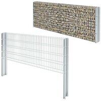 Hommoo 2D Gabion Fence Galvanised Steel 2008x830 mm 6 m Silver VD17443