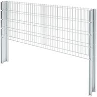 Hommoo 2D Gabion Fence Galvanised Steel 2008x830 mm 8 m Silver VD17444