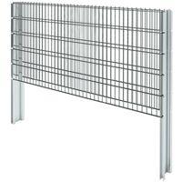 Hommoo 2D Gabion Fence Galvanised Steel 2008x1030 mm 2 m Grey VD17451