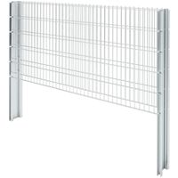 Hommoo 2D Gabion Fence Galvanised Steel 2008x1030 mm 2 m Silver VD17461