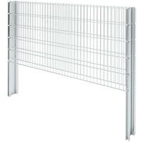 Hommoo 2D Gabion Fence Galvanised Steel 2008x1030 mm 4 m Silver VD17462