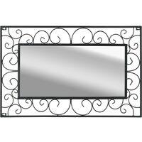 Hommoo Garden Wall Mirror Rectangular 50x80 cm Black VD18501