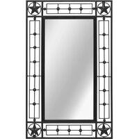 Hommoo Garden Wall Mirror Rectangular 50x80 cm Black VD18505