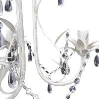 Hommoo Crystal Pendant Ceiling Lamp Chandeliers 2 pcs Elegant White VD21059