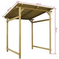 Hommoo Garden Canopy FSC Impregnated Pinewood 170x170x180 cm VD27409
