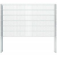 Hommoo 2D Gabion Fence Galvanised Steel 2008x1230 mm 4 m Silver