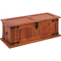 Hommoo Storage Chest 60x25x22 cm Solid Acacia Wood VD13136