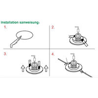 Hommoo 1 Piece 6W 9W 12W 15W 18W LED Recessed Ceiling Panel Down Lights Bulb Slim Lamp
