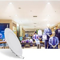 Hommoo 2 Piece 6W 9W 12W 15W 18W LED Recessed Ceiling Panel Down Lights Bulb Slim Lamp