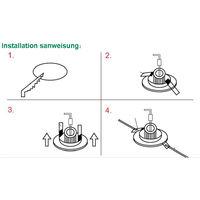 Hommoo 3 Piece 6W 9W 12W 15W 18W LED Recessed Ceiling Panel Down Lights Bulb Slim Lamp