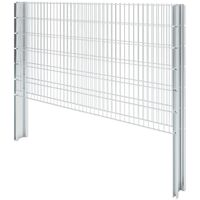 Hommoo 2D Gabion Fence Galvanised Steel 2008x1230 mm 6 m Silver