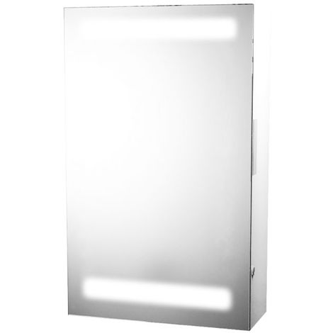 Illuminated Mirror Cabinet with Shaver Socket - Siren by Voda Design