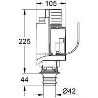Grohe 42314000 Dual Flush Pneumatic Dump Valve