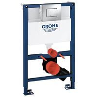 Grohe 38773000 Rapid SL 0.82m 3 in 1 Set Low Noise Support Frame for Wall Hung WC