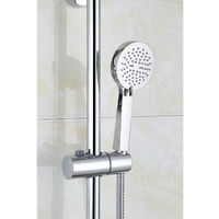 Round Thermostatic Cool Touch Chrome Plated Full Shower Kit