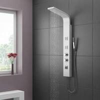 Deluxe White Dream Shower Panel