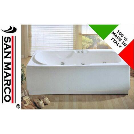 Vasca idromassaggio rettangolare 170x70 cm reversibile > Senza rubinetteria bordo vasca
