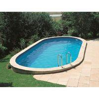 9f3bf141fbbd Piscina da giardino in legno Marbella 400 x 250 cm - 790096