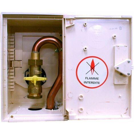 Coffret de coupure avec robinet 1/4 de tour BD7114 entrée PE 32 sortie cuivre : 28
