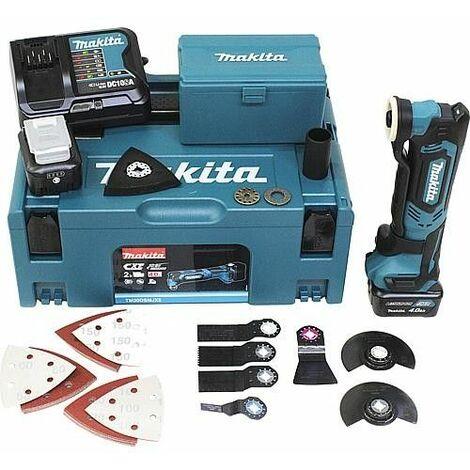 Outil multifonction sans fil Makita TM30DY1JX5, 10,8 V + coffret de 41 accessoires, sans chargeur