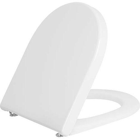 WC abattant Duravit Starck 3 Standard, blanc, avec charniere inox lxhxp: 380x30x383 mm