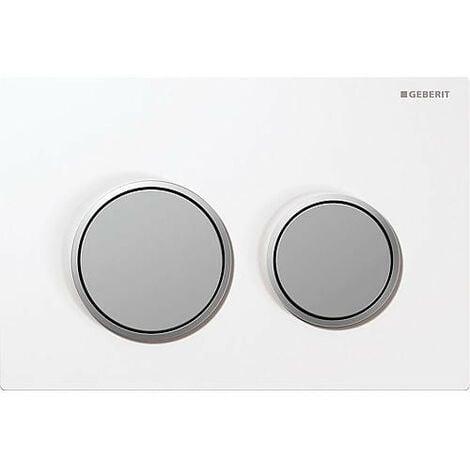 Plaque de commande Geberit Omega 20, 2 rincages, blanc/matt/matt