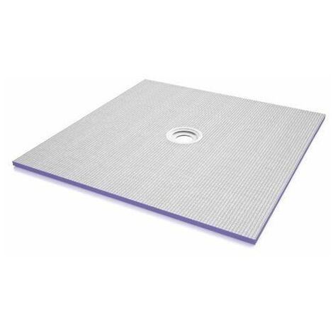 Receveur de douche à carreler Aqua Flat | 120 x 120 cm - Horizontal