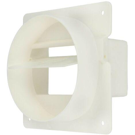 Clapet de retenue tuyaux plat 100 mm, blanc