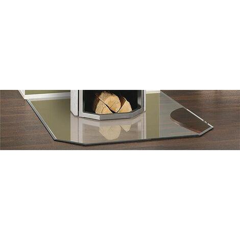 Plaque de sol acier 2 mm pour poele - trapezoidale B2 gris fonte