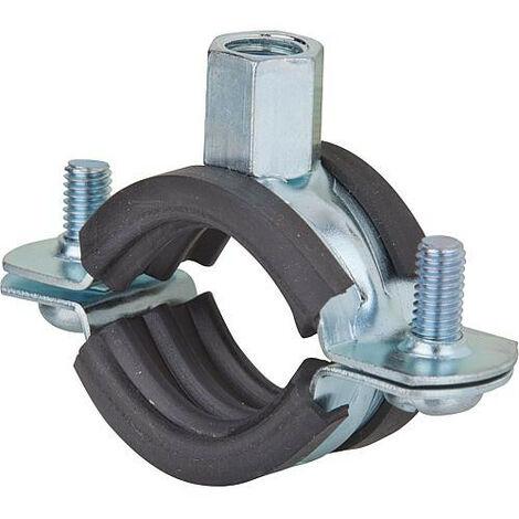 Collier d'attache galva pour tuyaux FRS Plus 121-128 plage de serrage 121-128mm