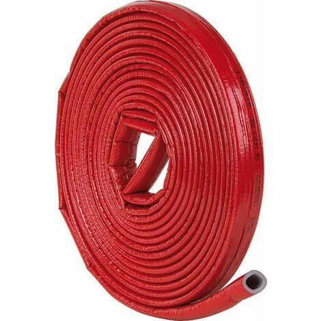 Gaine isolante robuste 12/15 x 4mm, longueur : 10m PE-XT avec protection rouge