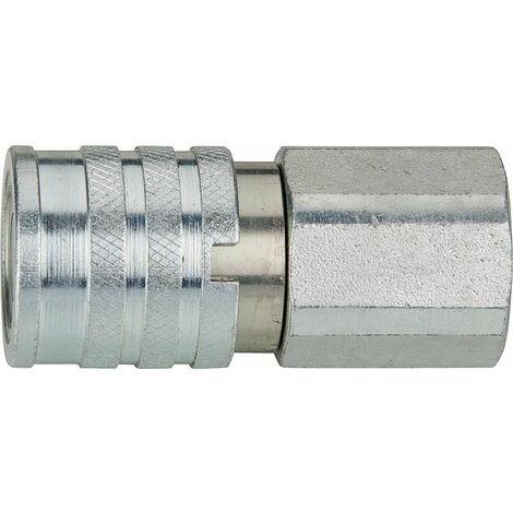 """Manchon d'accouplement hydraulique avec vanne plate, ISO 16028, 1/2"""" femelle"""